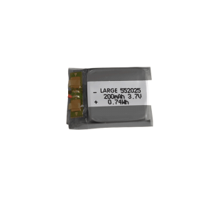3.7V 200mAh 552025 Lithium Polymer Battery for Communications and Security Products